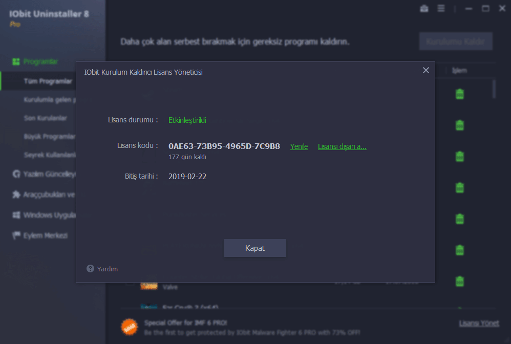 IObit Uninstaller PRO Lisans