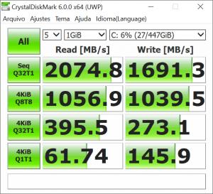 KingSpec M.2 PCIe NVMe SSD Hız Testi