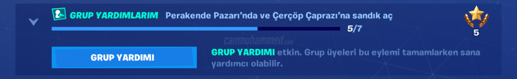 Fortnite Battle Royale Grup Yardımı