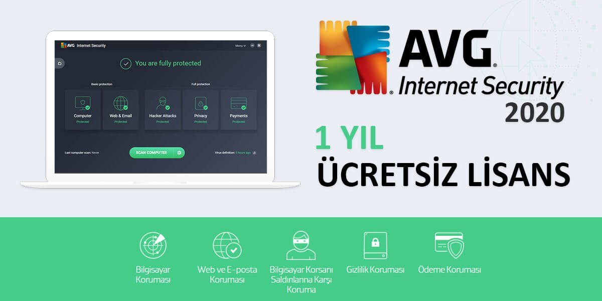 AVG Internet Security 2020 full ücretsiz lisans